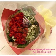 USA RED ROSES (12 stems)